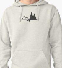 Minimal Geometric Shape // Dark Variant Pullover Hoodie