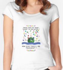 Something in the water - How else could I be pregnant. Women's Fitted Scoop T-Shirt