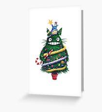 Totoro Christmas Greeting Card