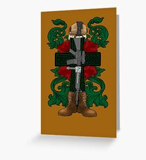 Battle Cross for Shirts Greeting Card