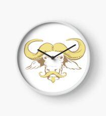 Buffalo Mustache (Blonde) Clock