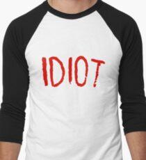 IDIOT Men's Baseball ¾ T-Shirt