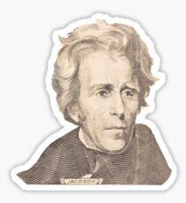 Portrait of Andrew Jackson Sticker