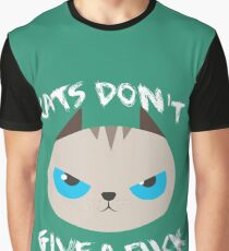 Grumpy cats don't give a F. Amazing trending design. Graphic T-Shirt