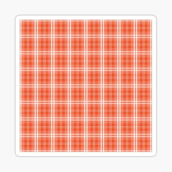 Spring 2017 Designer Colors Flame Orange Red Tartan Plaid Sticker