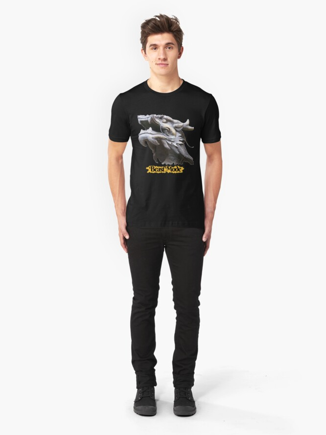 Alternate view of COOL BEAST MODE FUNNY QUOTE DRAGON FANTASY Slim Fit T-Shirt