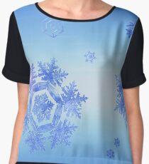 Fractal Snowflake Snowstorm Women's Chiffon Top