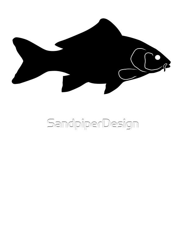 """Carp Fish Silhouette (Black)"" Stickers by ..."