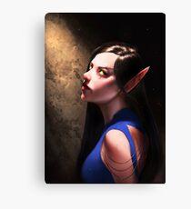 Blood Elf Portrait #1 Canvas Print
