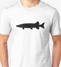 Muskie Fish Silhouette (Black) T-Shirt