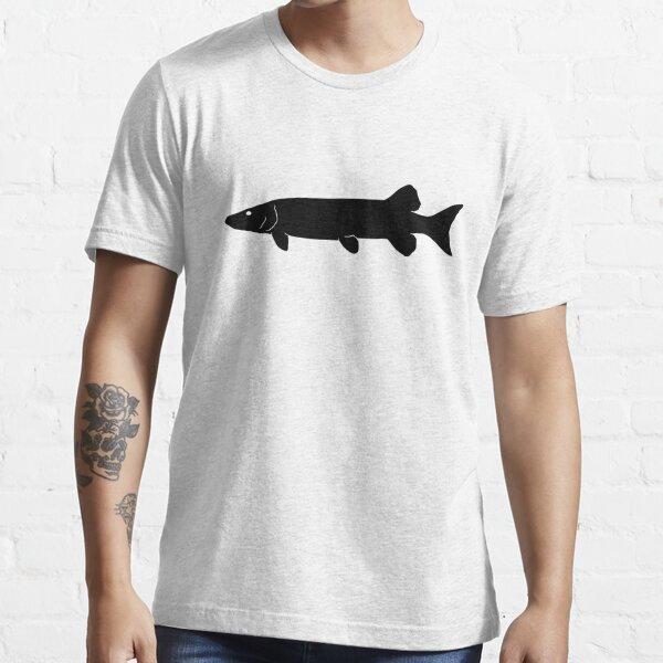 Muskie Fish Silhouette (Black) Essential T-Shirt