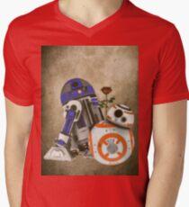 Android Love 2 Mens V-Neck T-Shirt