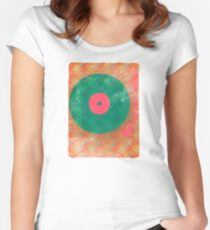 Vinyl Record Grunge Women's Fitted Scoop T-Shirt