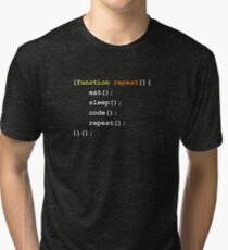 Function { Eat Sleep Code Repeat }  Tri-blend T-Shirt