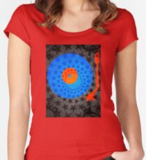Vinyl Record Stars Women's Fitted Scoop T-Shirt