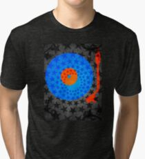 Vinyl Record Stars Tri-blend T-Shirt