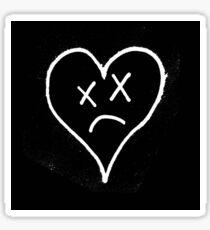 Mars Argo Sad Heart Sticker Sticker