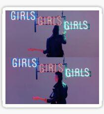 The 1975 Matty and Girls Neon Sign Sticker
