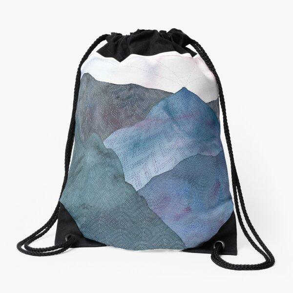 Bloom upon the Mountains Drawstring Bag