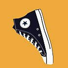 All Star Inspired Hi Top Retro Sneaker in Navy Blue by ibadishi