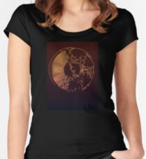 Vinyl Record Gold Explosion Women's Fitted Scoop T-Shirt