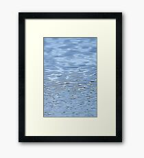 Small Blue Water Ripples Framed Print
