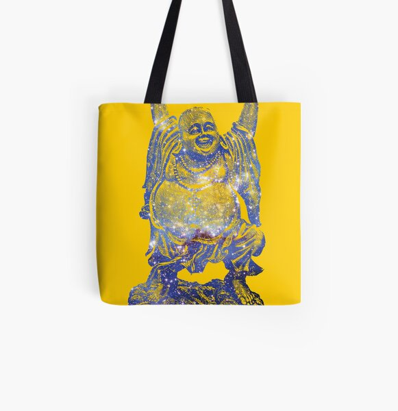 Happy Buddha   Scorpius Nebula All Over Print Tote Bag