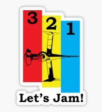 Cowboy Bebop 3, 2, 1, Let's Jam! Sticker