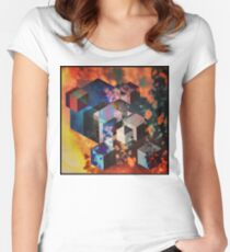 Colorful Cubes Women's Fitted Scoop T-Shirt
