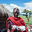 Maasai Man with Baby Goat  - Ngorongoro No4279FV1 by Amyn Nasser