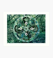 Milford Forest Sacred Geometry Art Print