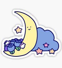 Blueberry Cresecent Moon Sticker