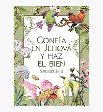 2017 YEAR TEXT (Wild flowers) SPANISH Photographic Print