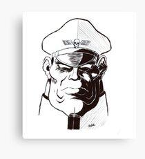 Street Fighter II Portraits - M. Bison Canvas Print