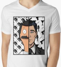 Trading Faces Men's V-Neck T-Shirt