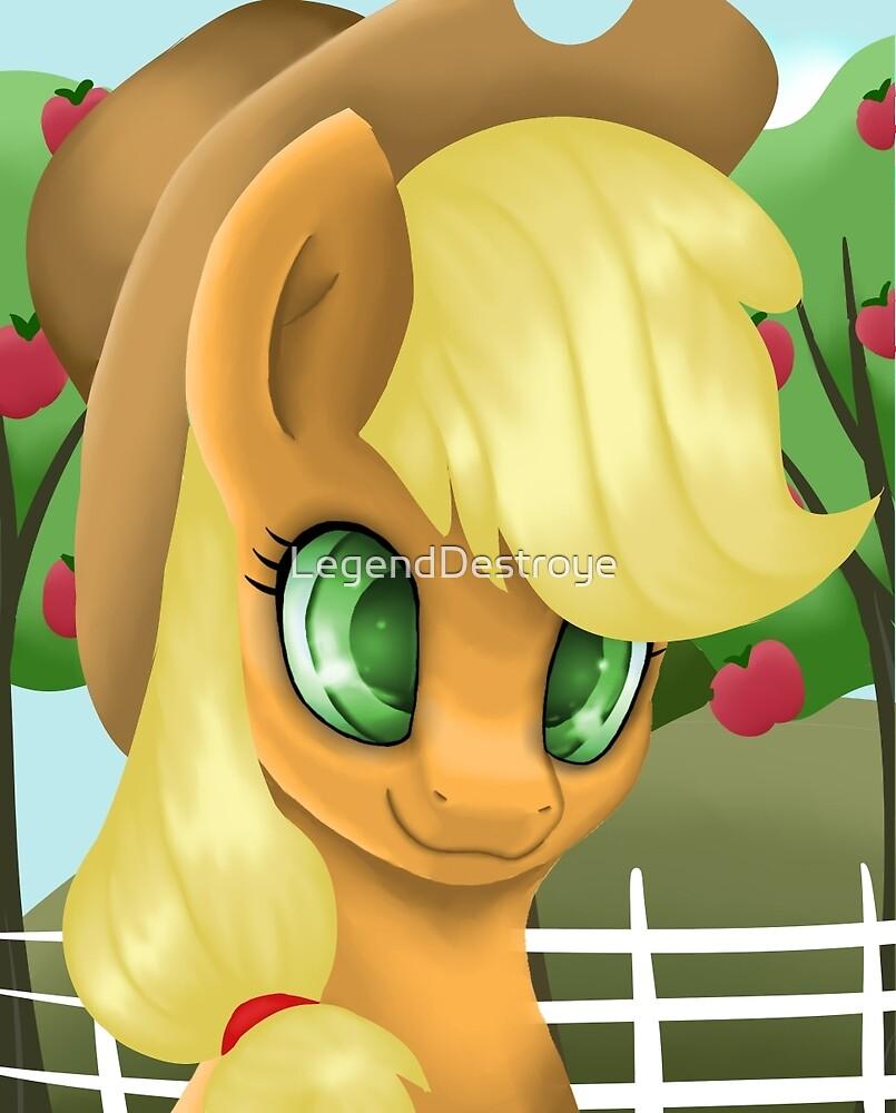 Applejack Portrait by LegendDestroye