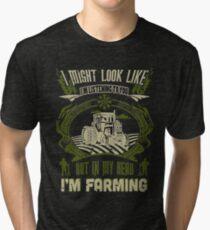 Farmer Tshirt , But in my head I'm farming Tri-blend T-Shirt