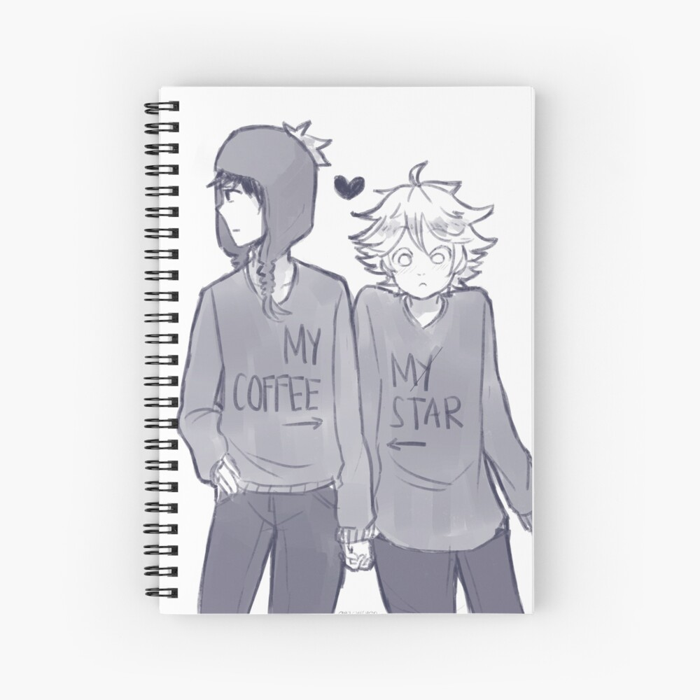 Creek - Coffee and Star Spiral Notebook