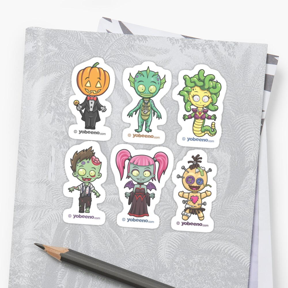 """Little Monster Mini's"" Sticker Sheet 2of2 by yobeeno"