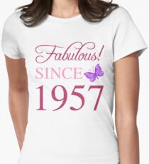 Fabulous Since 1957 Women's Fitted T-Shirt