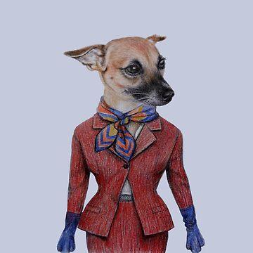 dog lady in uniform  by windzao