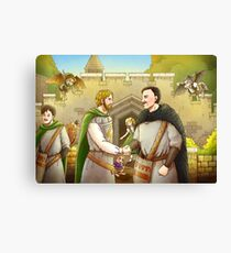 Robin Hood And The Captain Of The Guard Canvas Print