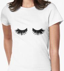 Eyelash Print Women's Fitted T-Shirt