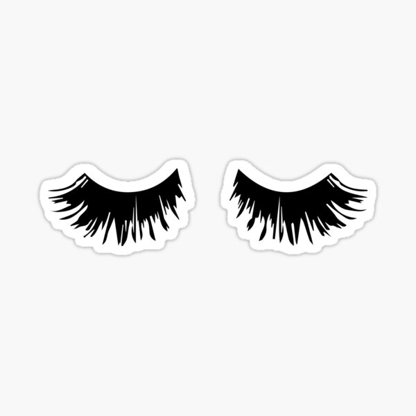 Eyelash Print Sticker
