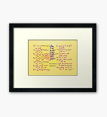 When I am an Old Woman I Shall Wear Purple Framed Print