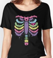 Bear Bones Kawaii Drip Women's Relaxed Fit T-Shirt