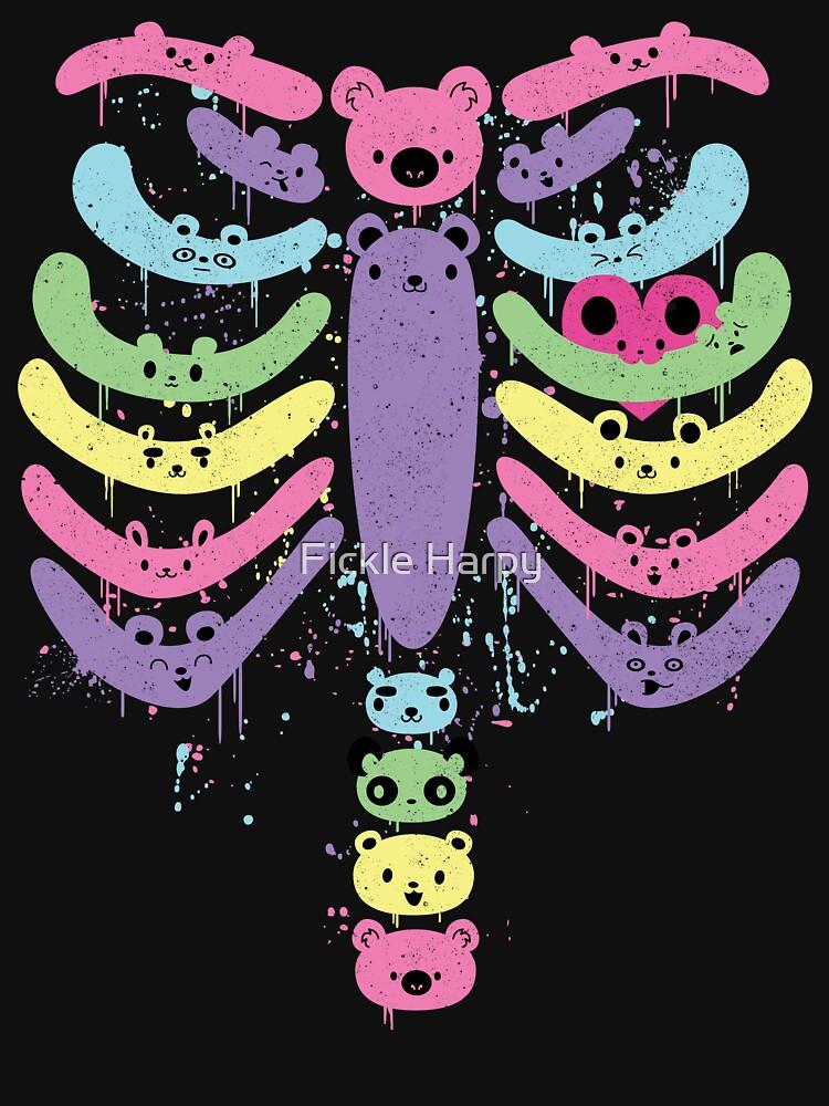 Bear Bones Kawaii Drip   Women's T-Shirt
