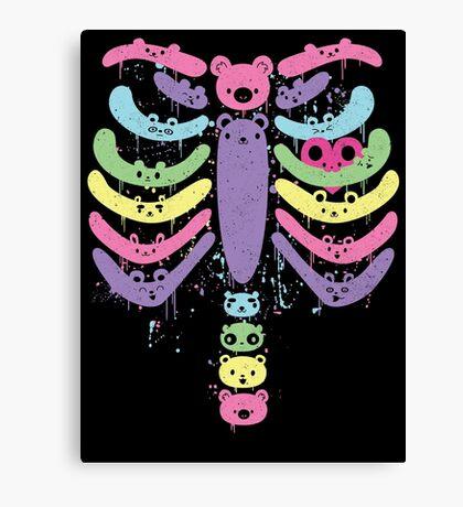 Bear Bones Kawaii Drip Canvas Print