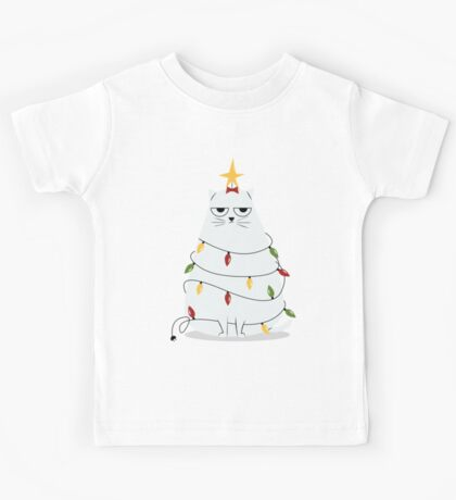 Grumpy Christmas Cat Kids Clothes
