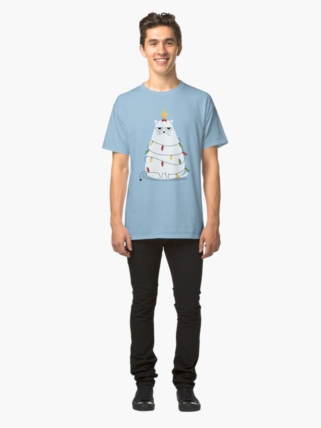 Alternate view of Grumpy Christmas Cat Classic T-Shirt